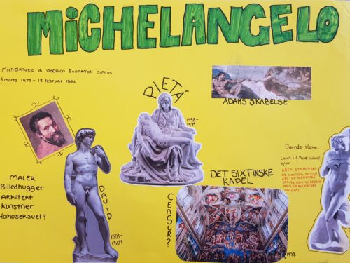 Poster - renæssancemennesket Michelangelo