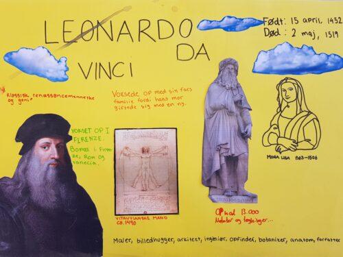 Poster - renæssancemennesket da Vinci