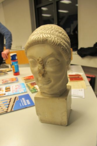 Skulpturhoved – udstationeret fra rektors kontor – CG oprindelse ukendt