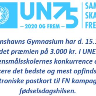 Diplom - sejr i FN-konkurrence